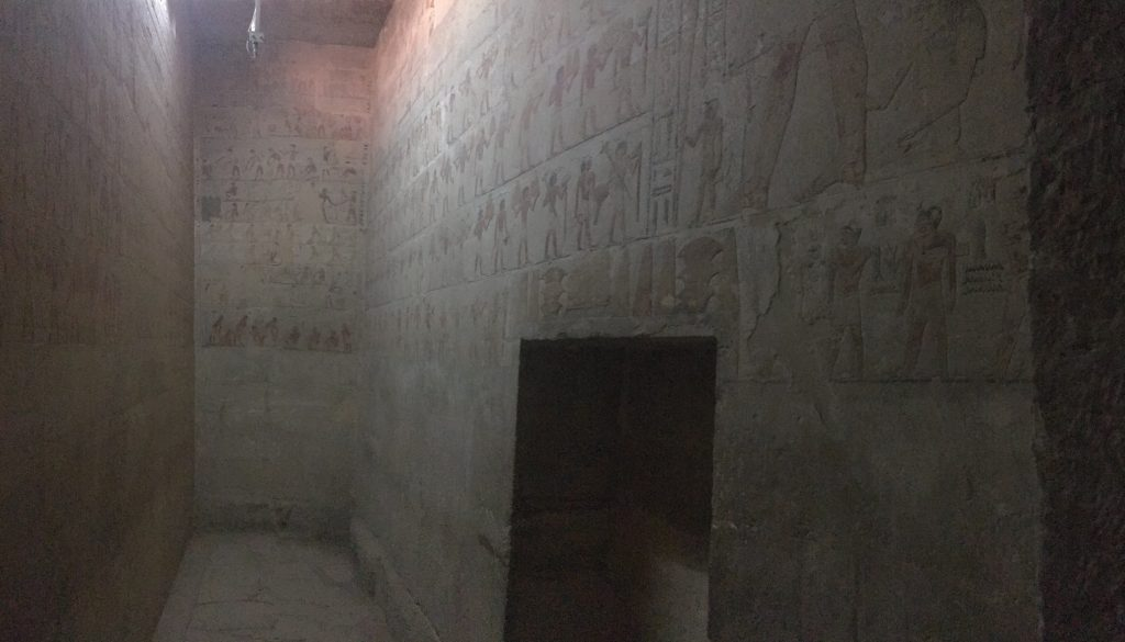 Inside the mastaba of Ti,Master of secret words in Sakkara with Gigal