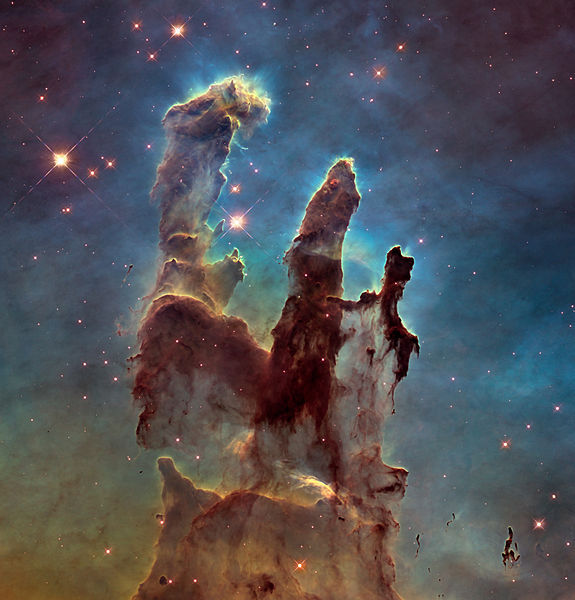 Pillars of Creation by Nasa,Esa