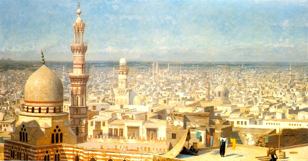 Old Cairo in Napoleon time, painting by Jean-Léon Gérôme