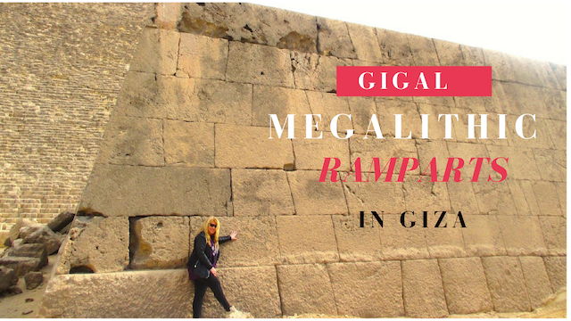 Megalithic walls in Giza by Antoine Gigal